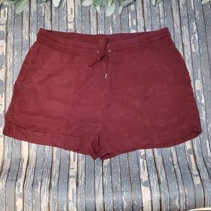 Universal Thread Burgundy Linen Shorts - Sz XL